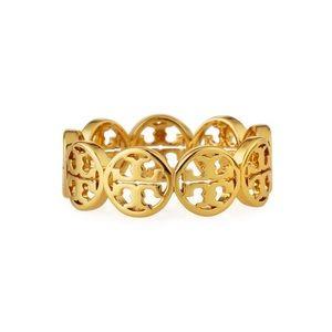 TORY BURCH • Frozen Logo Ring • Gold